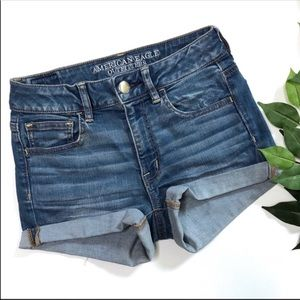 American Eagle Hi-Rise Shortie Jean Shorts